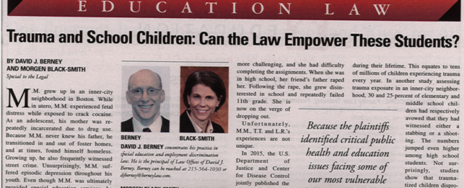 Trauma and school children newspaper clipping