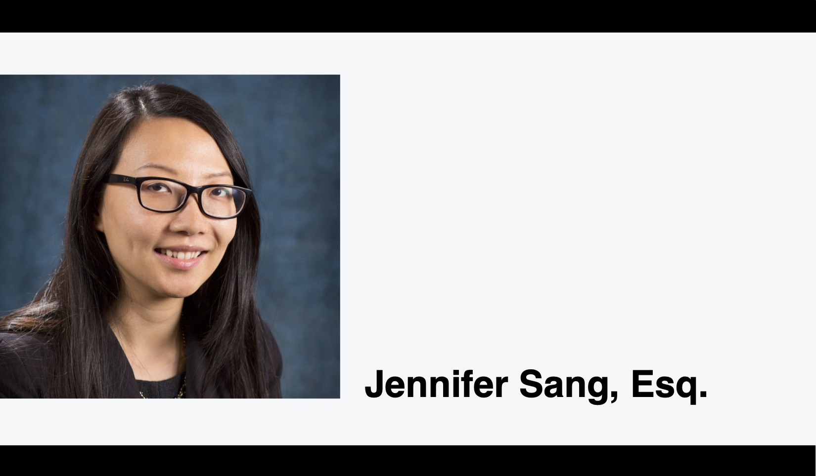 Headshot of Jen Sang, Esq.