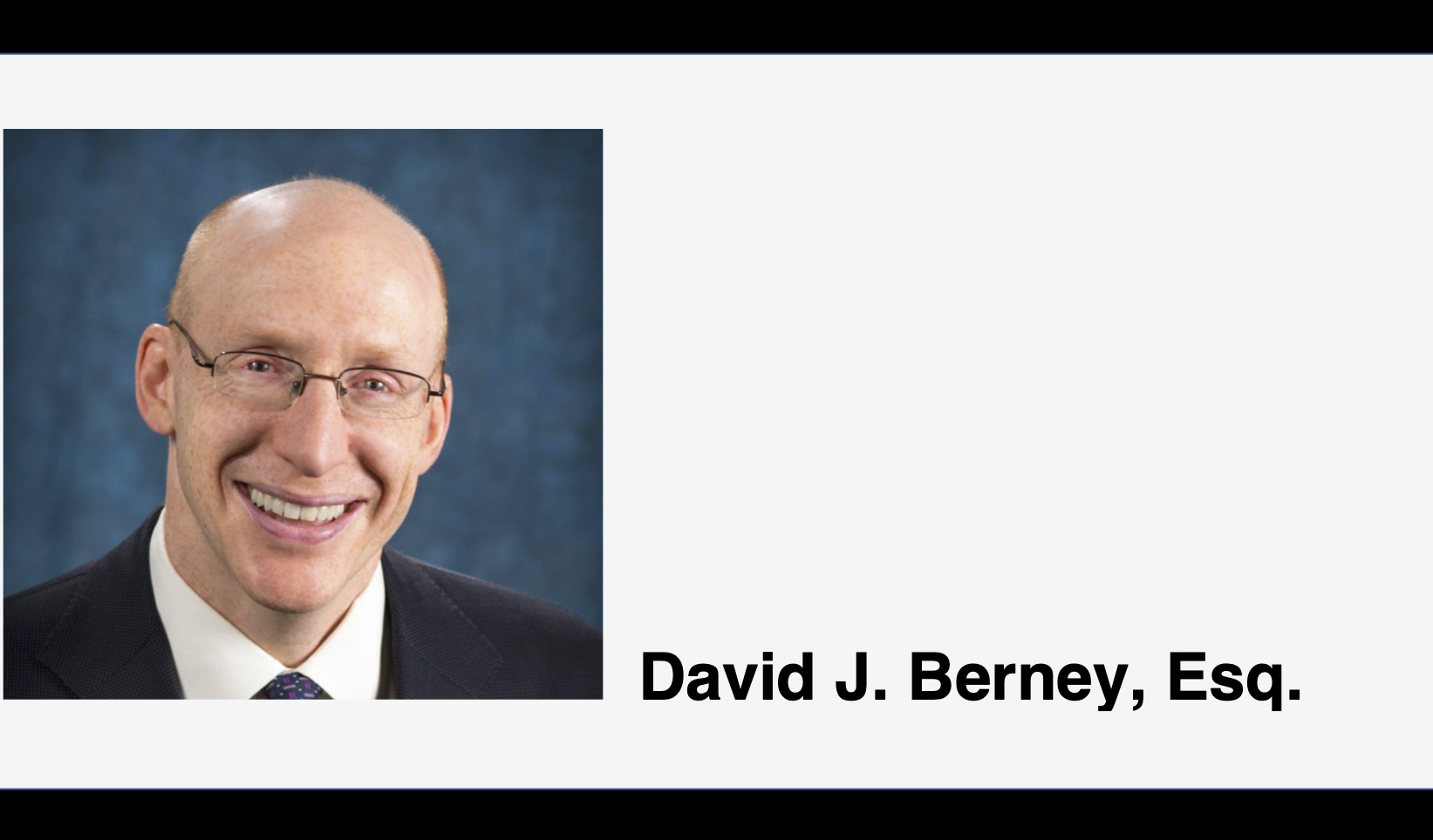 Headshot of Dave Berney, Esq.